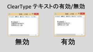 ClearTypeテキストの有効/無効の違い