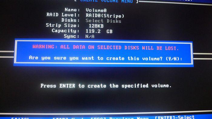 005_RAID0構築_ストライプ作成